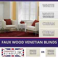 Faux Wood Venetian Blinds Made To Measure Faux Wooden Blinds 35mm or 50mm Slats