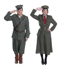 ADULT MENS & LADIES #WORLD WAR ARMY OFFICER OUTFIT FANCY DRESS WW1 WW2 THEME