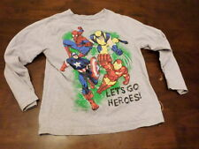 Wolverine Ironman avengers used kids size 7comic book long sleeve t shrit fall
