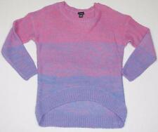Womens Knit Sweater Purple Pink Gradient Crewneck Pullover NWT