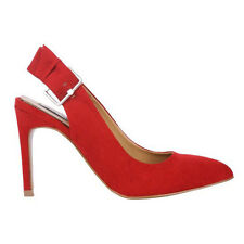 WOMAN SHOES DESIGNER SUEDE RED HIGH HEEL SANDAL PARTY EVENING WEDDING