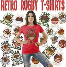 Team Rugby Ladies Retro T-Shirt Choose Country Perfect For World Cup & 6 Nations