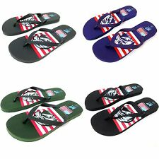 Mens Sandals Flip Flops USA American Flag Eagle Slippers Beach Flat Thongs Shoes