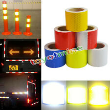 """2""""x10' 3M Warning Reflective Safety Tape Roll Adhesive Sticker For Trucks Car"""