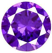 Cubic Zirconia Violet Round AAA Rated CZ Loose Stones (1mm - 17mm)