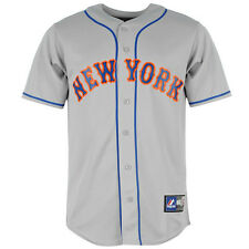 New York Mets Majestic MLB Road Replica Baseball Jersey – Grey