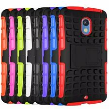 TPU Heavy Hard Back Stand Case Cover For Motorola Moto X Play XT1562
