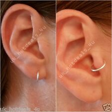 Thin Rose Gold Cartilage Earring Rook Helix Hoop Tragus Ring Nose Hoop Ring Gift