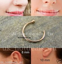 New Rose Gold Cartilage Earring Rook Helix Open Hoop Tragus Ring Nose Hoop Ring