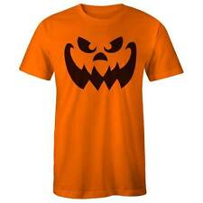 Evil Pumpkin Face Halloween Costume T-shirt - Orange Ghost Jack-o-Lantern Dress