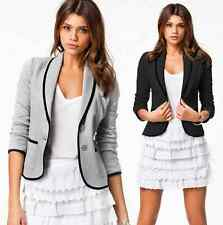 New Womens Ladies Stylish Casual Suit Coat Jacket Blazer Size 2 6 10 14 16