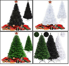 Deluxe Indoor Colorado Spruce Artificial Pine Christmas Tree w/ Metal Stand Tips