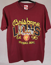 Official AFL Brisbane Lions Youth Supporter Tee Size 10