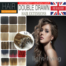 18''Top Quality Micro Loop Double Ring Beads Human Hair Extensions 1g/s