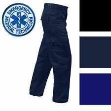 Mens EMS EMT Medic 9Pkt All Sizes Uniform Pants Black Navy ROTHCO 7801 7821 7823