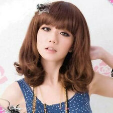 New Style Womens Girls Medium Fashion Full Curly Hair Wig 3 Colors Available
