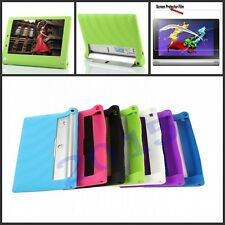 "Silicone Soft Case Cover For Lenovo Yoga Tablet 2 10"" with Android 1050F + Film"