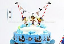 Theme Party Cake Banner Topper Wrapper 3 in 1 Package Pirate/Ballet/Princess