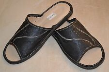 Mens Thick Sheep Skin Leather Slippers Shoes Sandal Made In Poland Orthopaedic