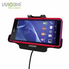 IMOBI4 3in1 Magnetic Charger Mount Cradle With Car Holder Cable For Sony Xperia