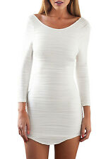 White Bodycon Dress with Cut out Back LC22148 women fashion new (US warehouse)