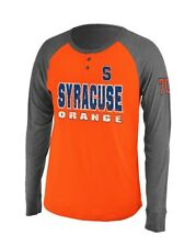 "Syracuse Orange NCAA ""Spotter"" Long Sleeve Dual Blend Men's Henley Shirt"