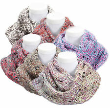 Women's Winter Loop Scarf multicoloured Circle Scarf Knit Scarf 70x23