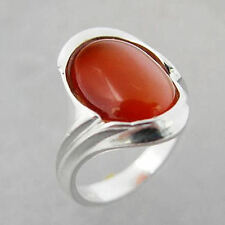 Schmuck-Michel Ladies Ring Sterling Silver 925 Carnelian 14x10 mm Size 50-65