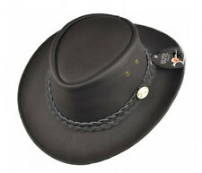 Australian Cowboy hat Outdoor hat Leather hat S/56 M/57 /58L XL/59 brown black