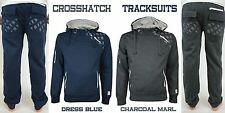 Crosshatch Mens Designer Fleece Tracksuit Hooded Jacket Top & Jogger Bottoms