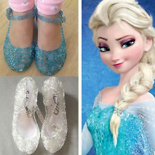 Frozen Princess Girls Hollowed Mary Janes Sandal Kids Party Cosplay Jelly Shoes