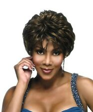 Vivica A Fox H209 Short Layer Wig Pure Stretch Cap 100% Human Hair Hand Stitched