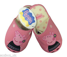 Peppa Pig - Girls Cotton Blend Padded Slippers Pink - All Sizes