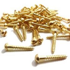 Solid Brass Slotted Round (Dome) Head Wood Screws No.6 Gauge in Various Sizes