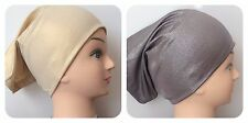 New Shiny Shimmer  Under Scarf Cap  Shawl Bonnet Hijab Hair Loss Chemo Cap/ Hat