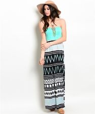 Maxi Dress Mint SMALL MEDIUM  LARGE Womens Tribal Boutique Summer Style Aztec