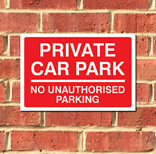 Private Car Park Sign, Various Sizes, Aluminium Composite