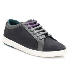 Ted Baker Mens Trainers Dark Grey Slowne Suede Lace Up Sports Casual Shoes