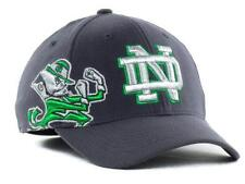 NWT NEW University of Notre Dame Fighting Irish Hat Stretch Fitted Cap Gray *W2