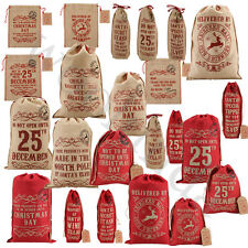 Vintage Style Hessian Christmas Sacks Christmas Santa Sack Stocking Gift Bag