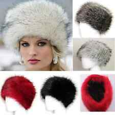 New Winter Warm Cool Women Lady Soft Faux Fox Fur Cossak Hat Cap Christmas Gifts