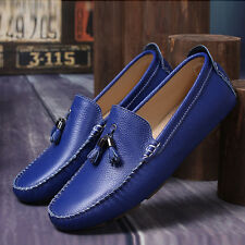 Fashion Mens Casual Loafer Genuine Leather Moccasins Flats Slip On Driving Shoes