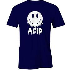 Acid T-shirt Smiley Face Funny Tee New