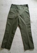 BRITISH ARMY LIGHTWEIGHT GREEN TROUSERS - OLIVE - USED - WORK TROUSERS- FISHING