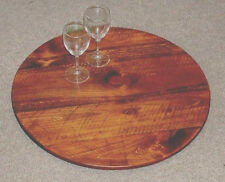 Lazy Susan - 24IN -  Wine Barrel Look - Wine Barrel Staves - Free Shipping!