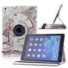 Fasion Map Smart Leather Case Back Cover for Apple iPad2 3 4 mini1 2 Air 2 Air 1