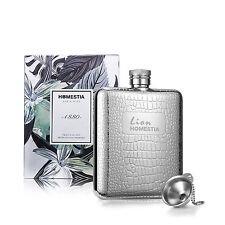 6 oz Stainless Steel Whiskey Flask Portable Alcohol Hip Flask Gift Box + Funnel