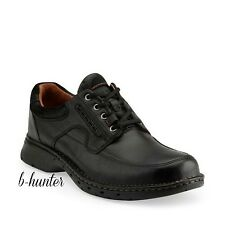 New Clarks Unstructured Mens Un.Ravel Casual Oxford Black Leather Shoes 85015