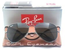 Ray Ban Aviator Green Classic G15 Lens RB 3025 W0879 Gunmetal Sunglasses - Large