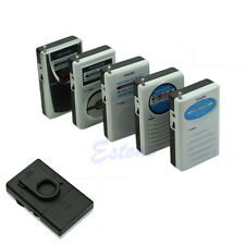 Portable Mini Pocket Broadcasting Belt Clip AM FM 2 Bands Radio Receiver DC 3V